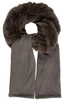Glamour Puss Glamourpuss Fur-Trimmed Knit Scarf w/ Tags