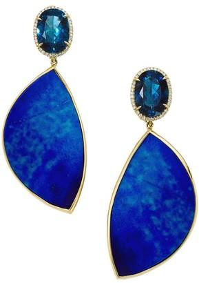 Ippolita Rock Candy 18K Yellow Gold, Diamond & Multi-Stone Double-Drop Earrings