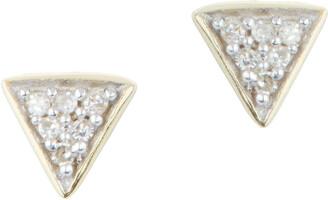 Adina Reyter Super Tiny Pave Diamond Triangle Earrings
