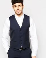 Selected Skinny Luxe Polka Dot Tuxedo Vest