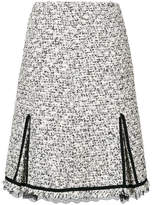 Giambattista Valli tweed lace-trim skirt