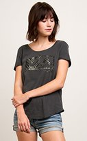 RVCA Junior's Palm Balance Box Loose Fit Graphic Tee