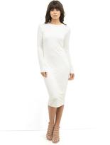 BLQ Basic Long Sleeve Midi Dress in White