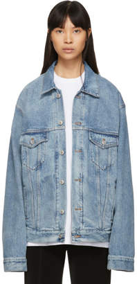 Balenciaga Blue Denim Tattoo Jacket