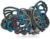 """Betsey Johnson You Give Me Butterflies"""" Mixed Faceted Stone Multi Row Butterfly Bracelet, 7"""""""