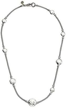 John Hardy Dot Hammered Disc Stations Sautoir Necklace (Silver) Necklace
