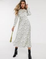 Ghost Rosaleen polkadot satin midi dress