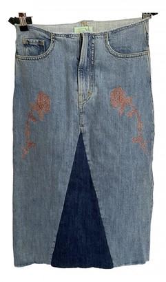 Aries Blue Denim - Jeans Skirts