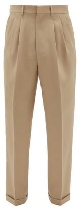 Ami Pleated Virgin-wool Serge-twill Suit Trousers - Mens - Beige