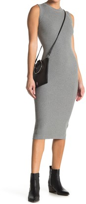 Love Stitch Sleeveless Ribbed Midi Dress