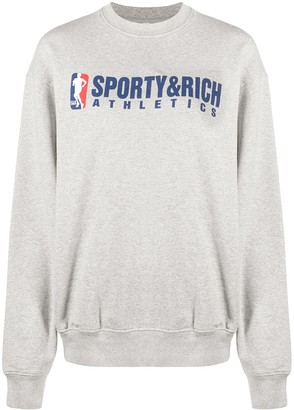 Sporty & Rich Logo Print Sweatshirt
