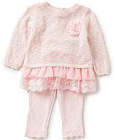 Wendy Bellissimo Baby Girls 3-24 Months Chiffon Ruffle Tunic and Leggings Set