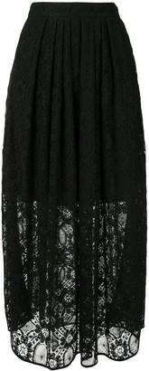 MSGM High-Waisted Lace Midi-Skirt