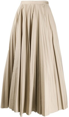 Katharine Hamnett Ray pleated long skirt