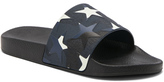 Valentino Star Slide Sandals in Geometric Print,Abstract,Black.