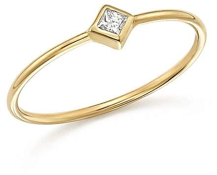 Chicco Zoë 14K Yellow Gold Bezel Ring with Diamonds