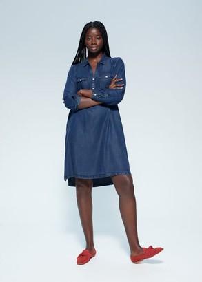 MANGO Violeta BY Lyocell denim dress deep dark blue - 10 - Plus sizes