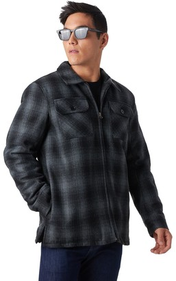 Stoic Buffalo Plaid Sherpa-Lined Shirt Jacket - Men's