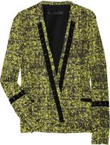 Proenza Schouler Chiffon-trimmed cotton-blend tweed jacket
