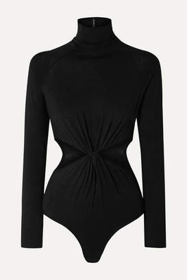 Marika Vera Laura Cut-out Stretch-jersey Turtleneck Thong Bodysuit - Black