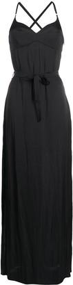 Murmur Escapade tie-waist maxi dress