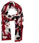 Vince Camuto Bordered Floral Scarf