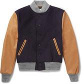 Golden Bear - Virgin Wool-blend And Leather Bomber Jacket