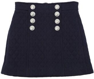 Balmain Quilted Cotton Sweat Skirt