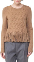 Akris Punto Fringed Cable-Knit Sweater