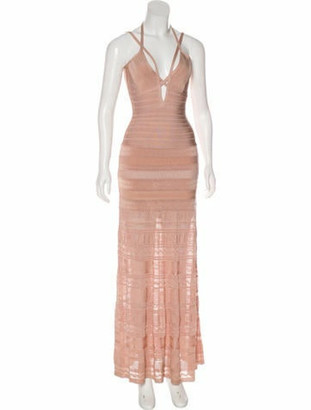 Herve Leger Vivian Maxi Dress Mauve