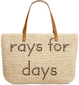 Style&Co. Style & Co. Rays for Days Straw Beach Bag Tote, Only at Macy's