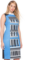 ELOQUII Plus Size Colorblocked Printed Dress