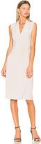 Norma Kamali Sleeveless Side Drape Dress in Light Gray. - size S (also in )