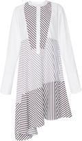 Carven Asymmetric Striped Shirt Dress