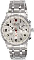 Swiss Military Hanowa Men's Patriot 06-5187-04-001 Silver Stainless-Steel Quartz Watch with White Dial