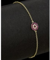 Meira T 14k Diamond & Ruby Bracelet.