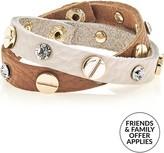 Love Rocks Leather Stud Bracelet Set
