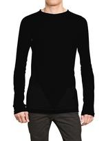 Gareth Pugh Perforated Cotton Round Neck Sweater