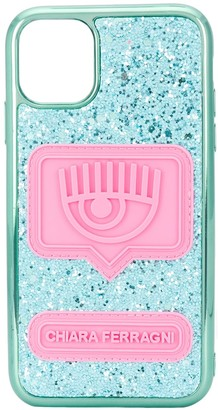 Chiara Ferragni Eyelike glittered iPhone 11 case