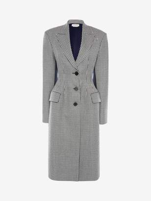 Alexander McQueen Fitted Dogtooth Coat