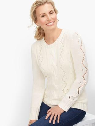 Talbots Cableknit Crewneck Sweater