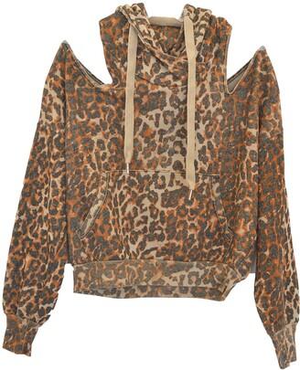 NSF Tricia Cold Shoulder Leopard Print Hoodie