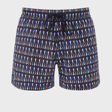 Paul Smith Men's Blue Triangle Pattern Swim Shorts