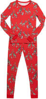 Bedhead Pajamas Girl's Holiday Giraffe-Print Pajama Set, Size 2-8