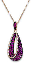 Effy Amoré by Ruby (7/8 ct. t.w.) and Diamond (1/6 ct. t.w.) Pendant Necklace in 14k Rose Gold