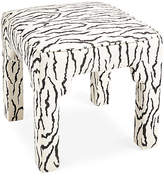 Kim Salmela Hicks Stool - Black/White Zebra
