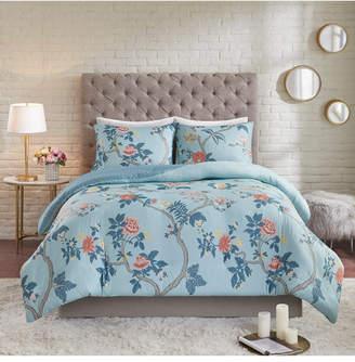 Madison Home USA Charleston Garden Full/Queen 3-Pc. Reversible Printed Seersucker Duvet Cover Set Bedding