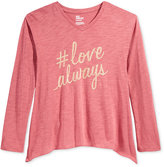 Epic Threads Girls' Love Always Graphic-Print T-Shirt, Only at Macy's