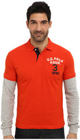 U.S. Polo Assn. Long Sleeve Slim Fit Polo and Thermal Hang Down