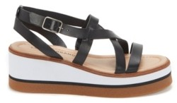 Lucky Brand Women's Ticey Strappy Wedge Platform Sandals Women's Shoes